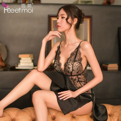 HGGBS READY STOCK  4 Colours New  Sexy Lingerie Nightwear Sets Pyjamas PajamasATL533